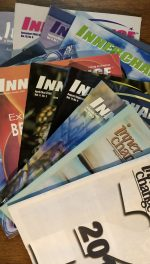 a collection of eleven inner change magazines fanned out