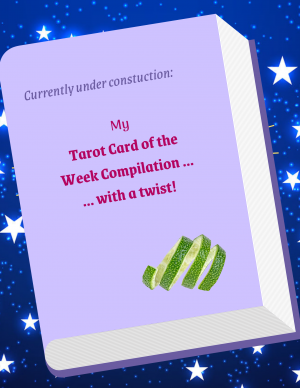 Mockup graphic of a purple book under construction with stars in the background
